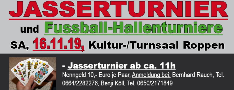 Einladung zum Jasserturnier 2019!