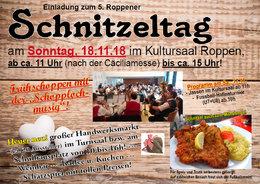 Einladung zum 5. Roppner Schnitzeltag + Handwerksmarkt