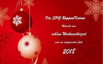 Weihnachtskarte 2018 SPG Roppen- Karres